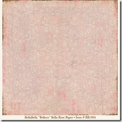BellaBella Bellezo Bella Rose Paper item BB1004